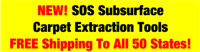 SOS Doodoo Voodoo Subsurface Carpet Extraction Tools